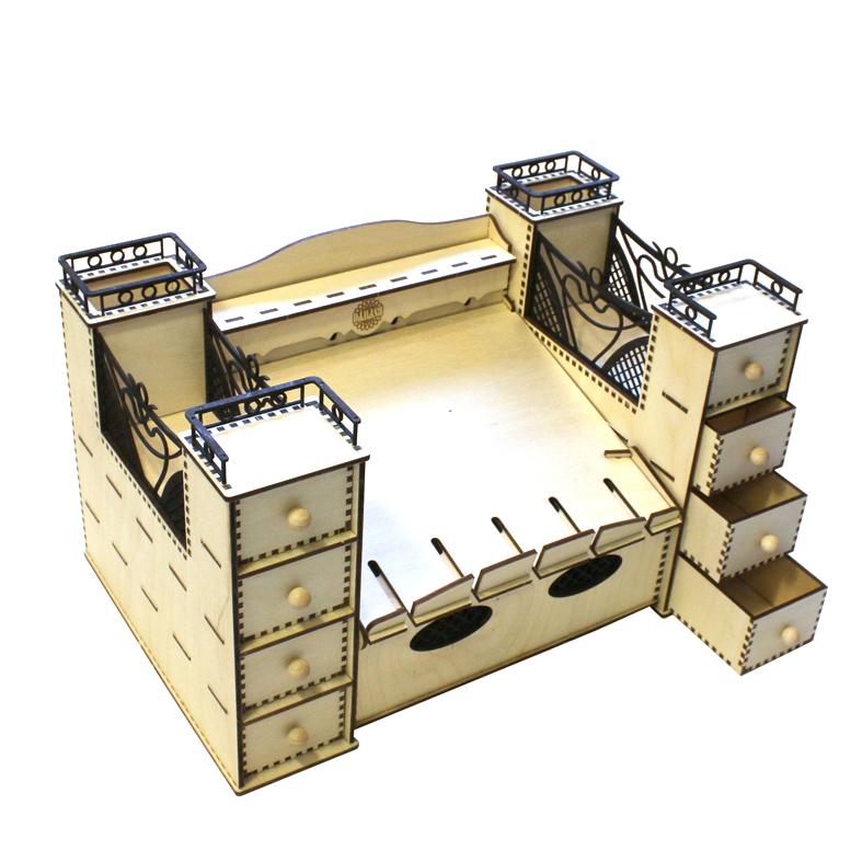 Bausatz Schreibtischgarnitur Kabelbox klein