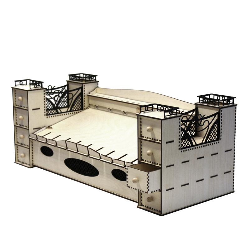 Bausatz Schreibtischgarnitur Kabelbox groß